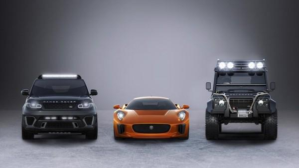 SPECTRE Cars 600x337 at Jaguar Land Rover Reveals SPECTRE Cars
