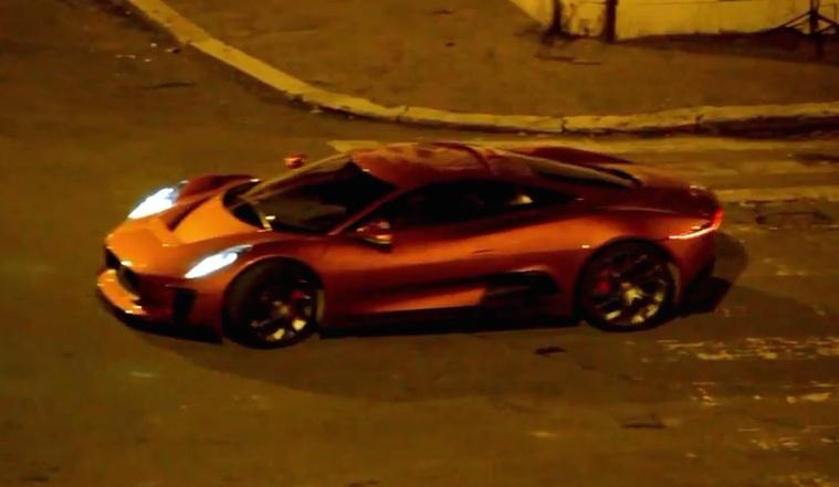 Jaguar C X75 Vs Aston Martin Db10 In Spectre Chase Scene