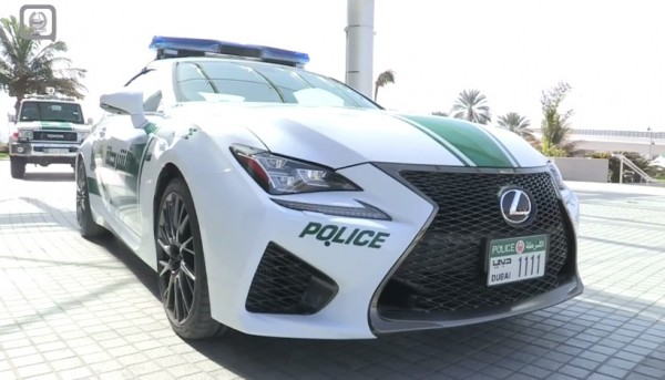 dubai police lexus rc f 600x343 at Dubai Police Adds Lexus RC F to its Fleet