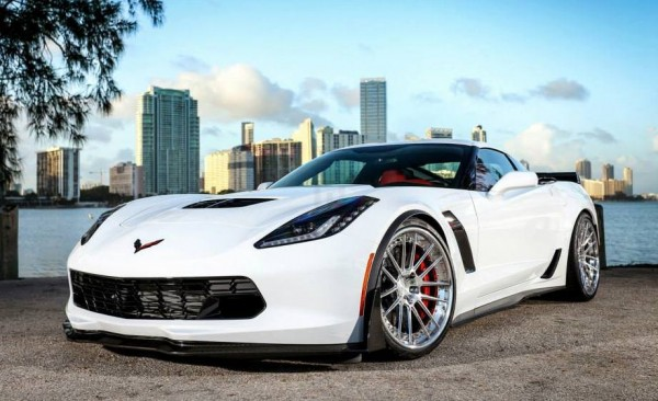 Corvette Z06 ADV1 0 600x366 at Gallery: Corvette Z06 C7 Slammed on ADV1 Wheels