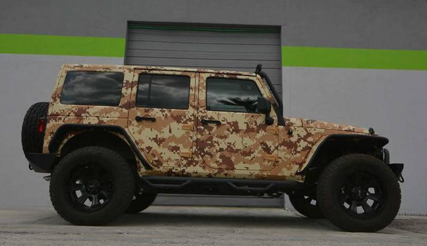 Salute Worthy Jeep Wrangler In Digital Desert Camo