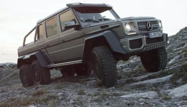 Mercedes G63 6x6 600x343 at Watch a Mercedes G63 6x6 Drive Up a Cliff