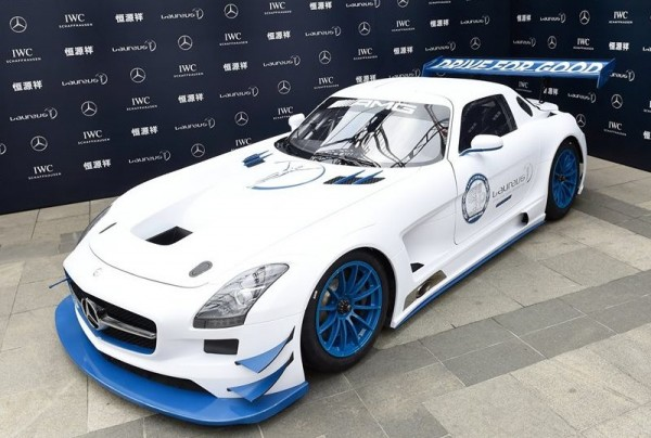 Mercedes SLS AMG GT3 Laureus 0 600x404 at Race Car for Charity: Mercedes SLS AMG GT3