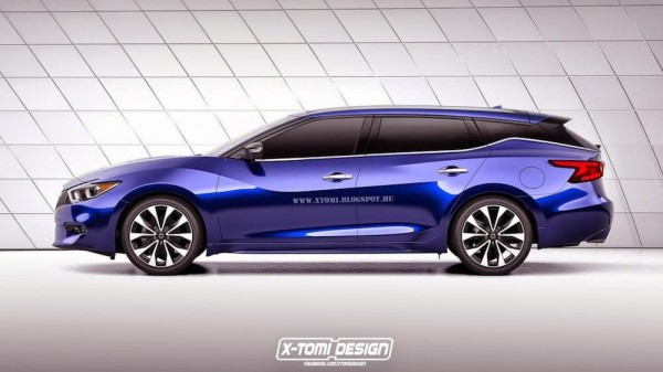 Nissan Maxima wagon 600x337 at 2016 Nissan Maxima Rendered as Coupe and Wagon