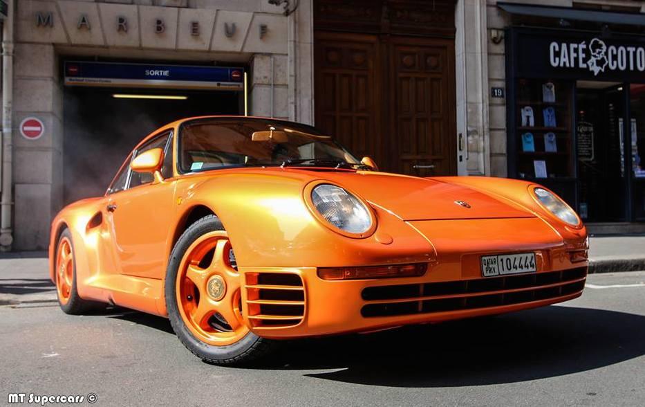 Infiniti Of Orange Park >> Orange Porsche 959 Spotted in Paris