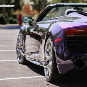 purple audi r8 2 175x175 at Gallery: Purple Audi R8 Spyder on HRE Wheels