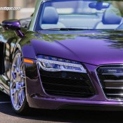 purple audi r8 3 175x175 at Gallery: Purple Audi R8 Spyder on HRE Wheels