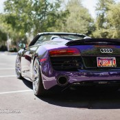 purple audi r8 5 175x175 at Gallery: Purple Audi R8 Spyder on HRE Wheels