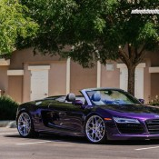 purple audi r8 9 175x175 at Gallery: Purple Audi R8 Spyder on HRE Wheels