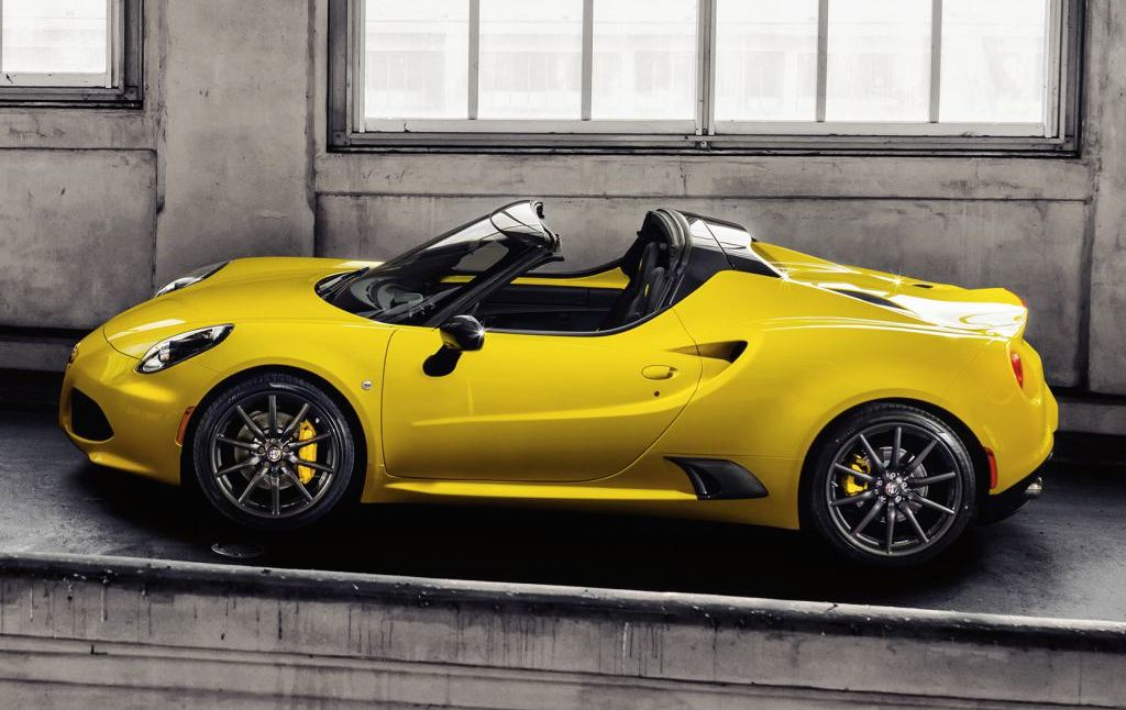 alfa romeo 4c spider priced from £59,500 (uk)