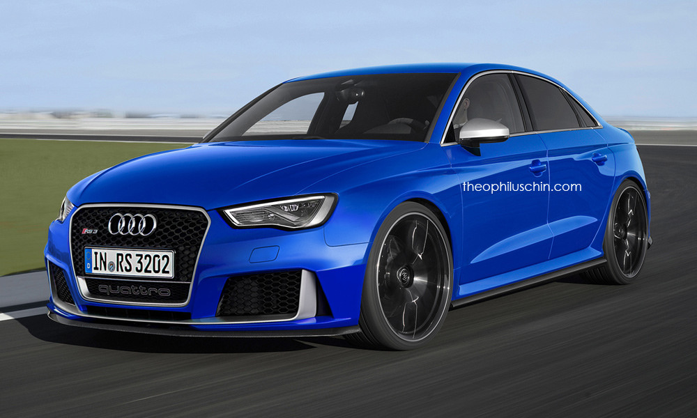 audi rs3 sedan looks convincing in new renderings. Black Bedroom Furniture Sets. Home Design Ideas