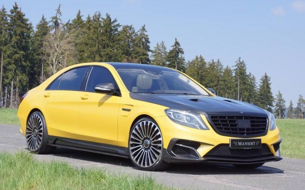 Mansory Mercedes S63 Bumblebee 1 600x374 at Mansory Mercedes S63 AMG Bumblebee Edition!