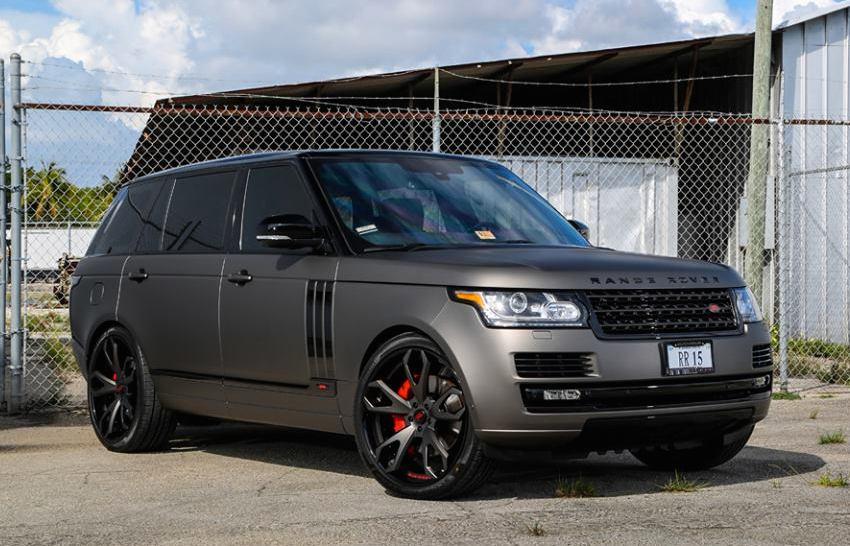 Matte Range Rover >> Gallery Matte Grey Range Rover On Forgiato Wheels