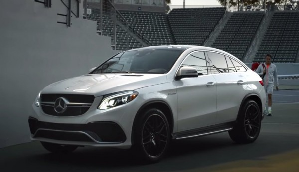 Mercedes GLE 63S AMG 600x346 at Roger Federer Stars in Mercedes GLE 63 Coupe Ad