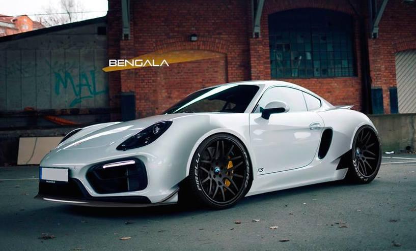 Rendering Bengala Porsche Cayman Wide Body