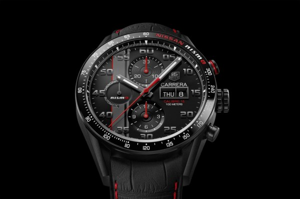 TAG Heuer Carrera Nismo 1 600x399 at Nissan GT R LM Nismo Gets Exclusive TAG Heuer Watch