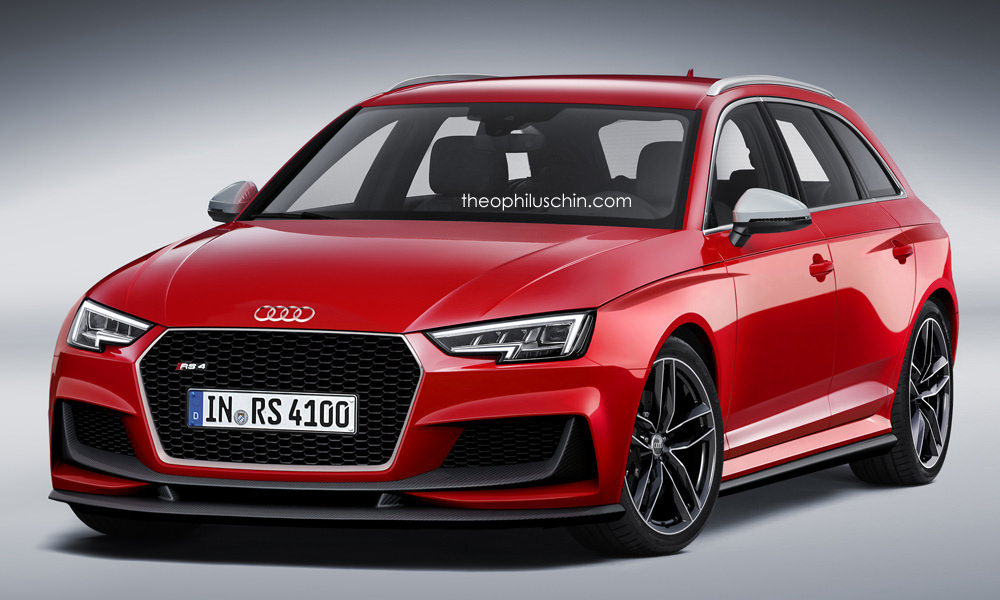 2017 audi rs4 avant imagined with new grille and aero parts. Black Bedroom Furniture Sets. Home Design Ideas