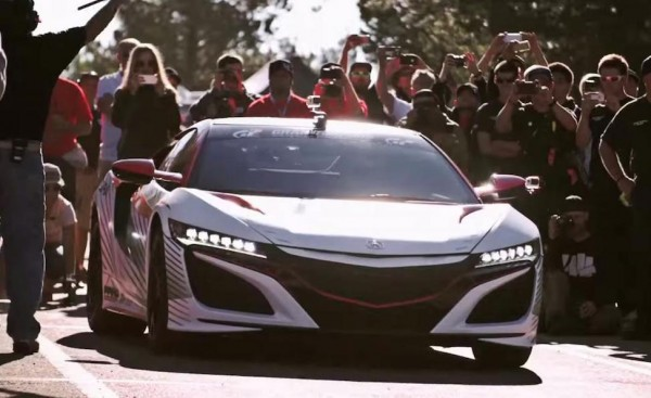 Acura NSX Pace Car action 600x367 at Watch Acura NSX Pace Car in Action at Pikes Peak