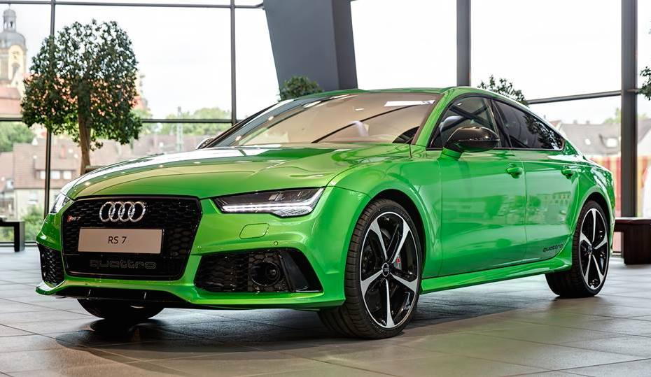 Apple Green Audi Rs7 Looks Delicious