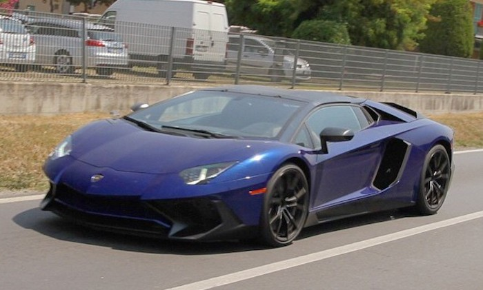 Aventador SV Roadster Caught 1 at Lamborghini Aventador SV Roadster Caught Undisguised