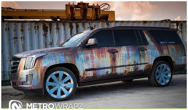 Cadillac Escalade Rust Chrome 0 600x350 at Cadillac Escalade Rust Chrome by Metro Wrapz