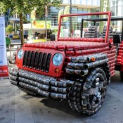 Jeep Wrangler Canstruction 1 175x175 at Jeep Wrangler 'Canstruction' Is an Homage to Canda
