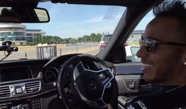 Lewis Hamilton Drift 600x352 at Watch Lewis Hamilton Drift a Mercedes Like a Boss