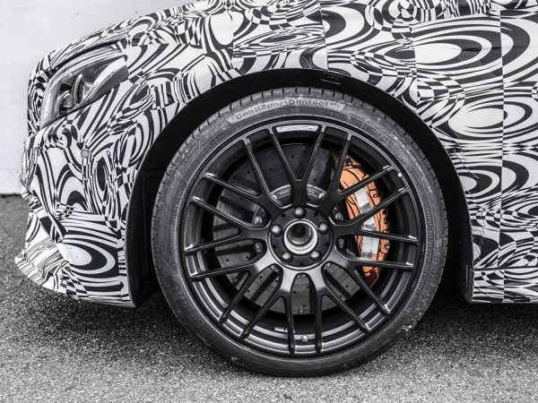 """New C63 Coupe teaser 0 600x450 at Mercedes AMG's """"Something Fast"""" Is the New C63 Coupe"""