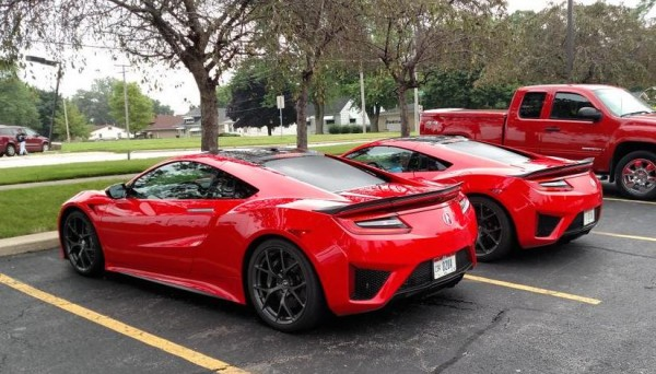 Red Acura NSX Spot 1 600x342 at 2x Production Acura NSX Spotted in the Wild