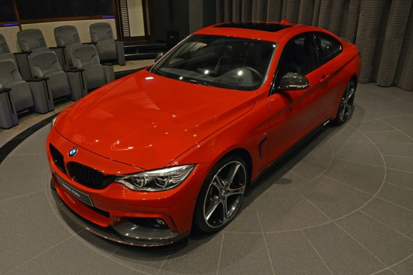 Red BMW 435i M Sport 0 600x400 at Red BMW 435i M Sport Stuns at BMW Abu Dhabi