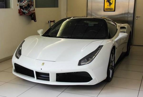 White Ferrari 488 GTB 0 600x406 at Ferrari 488 GTB Looks Rather Gorgeous in White
