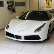 White Ferrari 488 GTB 1 175x175 at Ferrari 488 GTB Looks Rather Gorgeous in White
