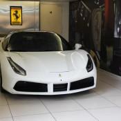 White Ferrari 488 GTB 3 175x175 at Ferrari 488 GTB Looks Rather Gorgeous in White