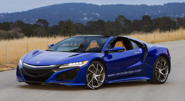 Acura NSX Spider 600x329 at Rendering: Acura NSX Spider