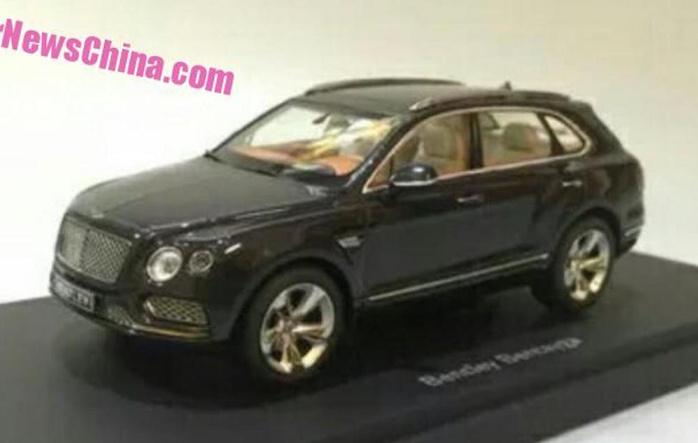 Bentley Bentayga scale model 0 at Bentley Bentayga Revealed by Leaked Scale Model