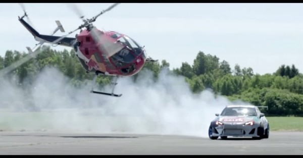 Helicopter Chase Driftcar 600x313 at Adrenaline Fix: Chasing a Drifting Race Car in a Helicopter