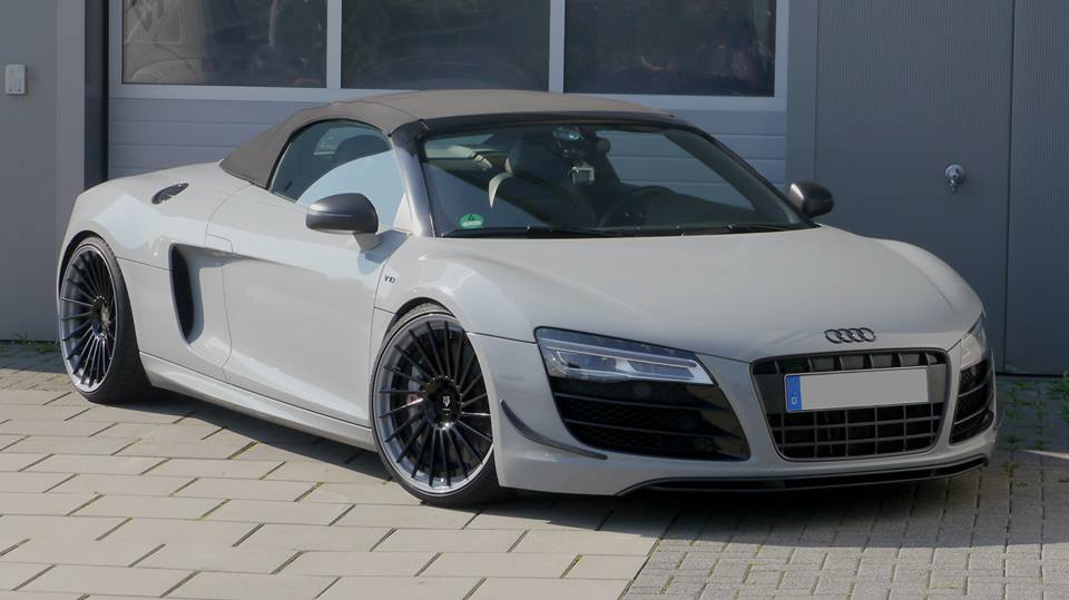 Nardo Grey Audi R8 Spyder By Mbdesign