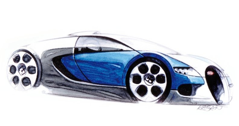 how to draw a bugatti chiron easy