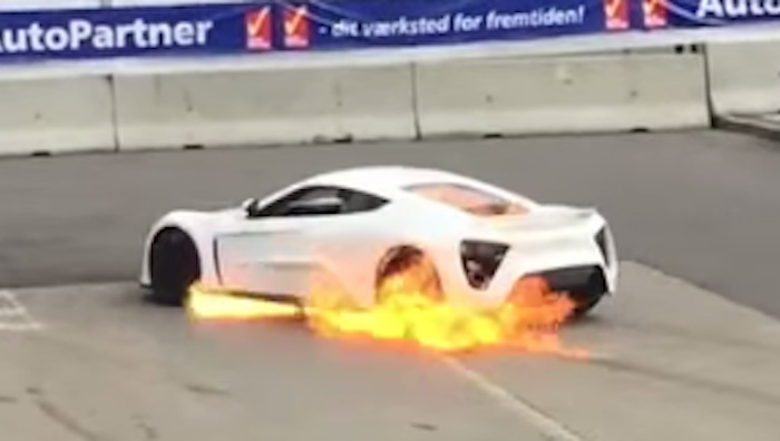 Another Zenvo St1 Catches Fire On The Race Track