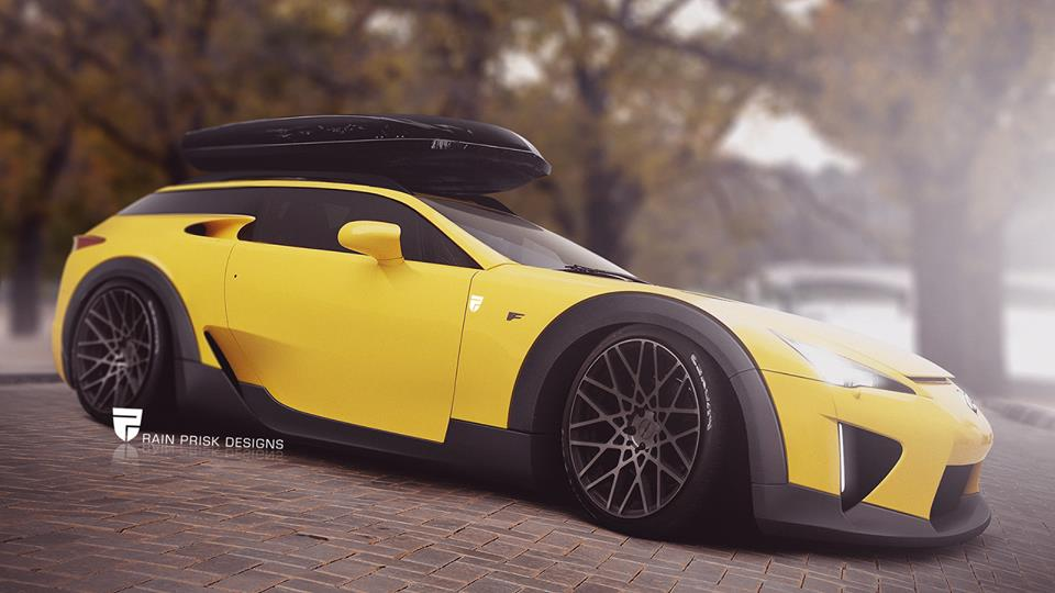 Bmw I8 Top Speed >> Rendering: Lexus LFA Shooting Brake