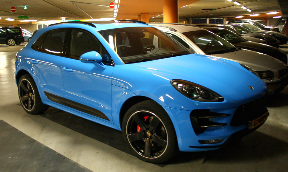 Mexico Blue Porsche Macan Turbo Spotted In Amsterdam