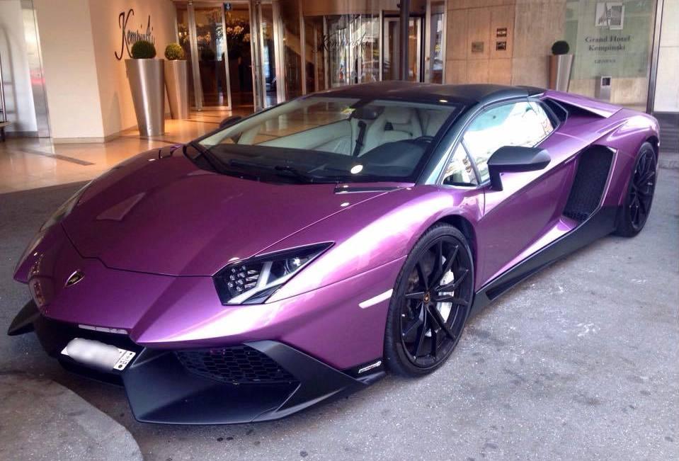 Purple Aventador 50th Anniversary Spotted In Geneva