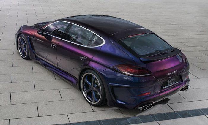 Techart Grand GT Panamera with Chameleon Paint Job