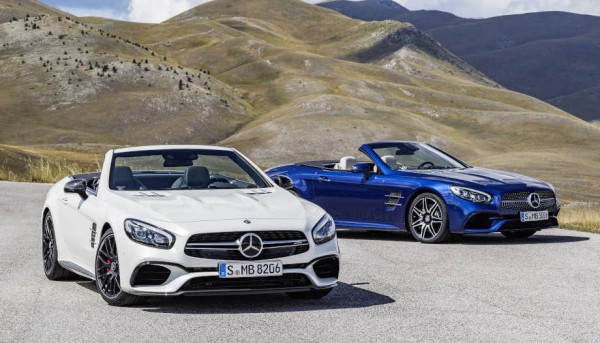 2017 Mercedes SL Official 0 600x343 at 2017 Mercedes SL Goes Official