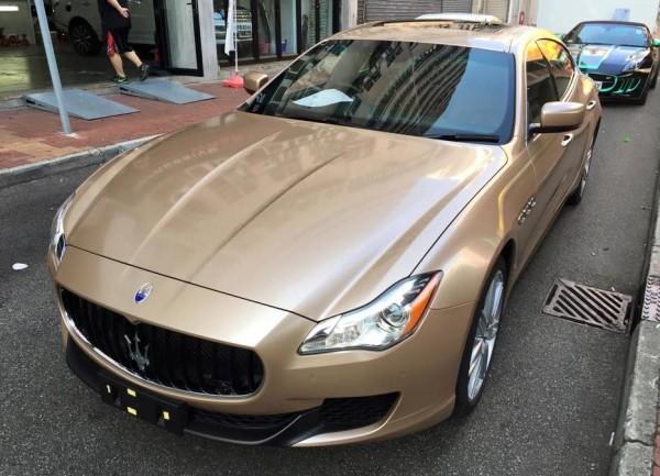 Champagne Maserati Quattroporte 0 600x433 at Champagne Maserati Quattroporte by Impressive Wrap
