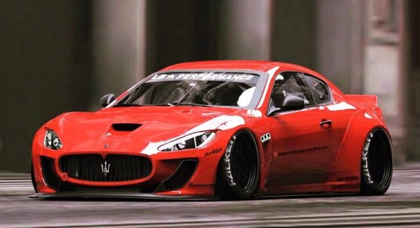 Liberty Walk Maserati GranTurismo 1 600x326 at Preview: Liberty Walk Maserati GranTurismo