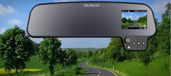 Papago GS260 US Rear View Mirror Full HD Car Dashcam 600x267 at Great Car Gadgets and Technologies!