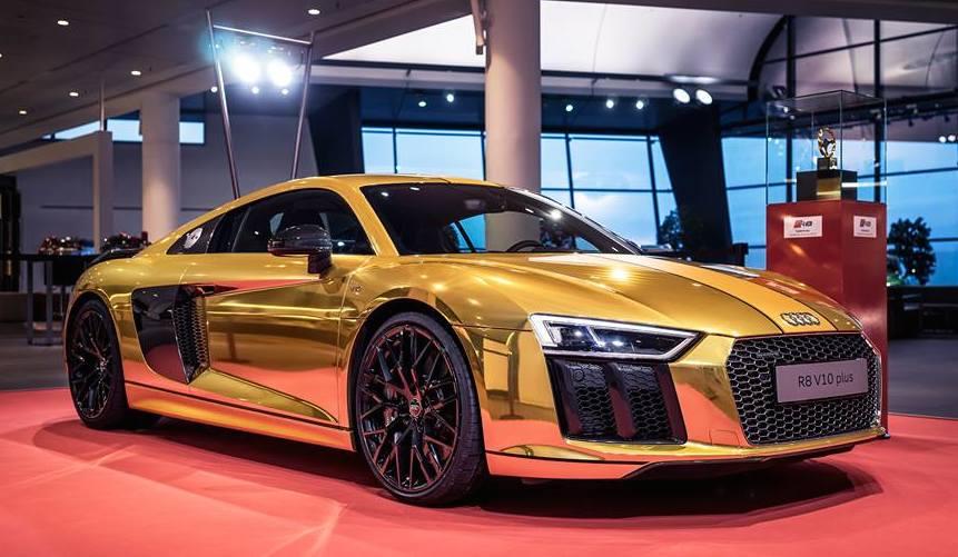 Gold Audi R8 V10 Plus Is Quite A Sight