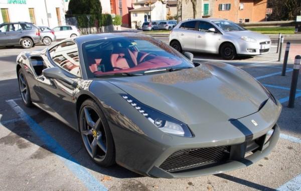 Grigio Ferro Ferrari 488 GTB 0 600x380 at Grigio Ferro Ferrari 488 GTB Spotted in Lugano