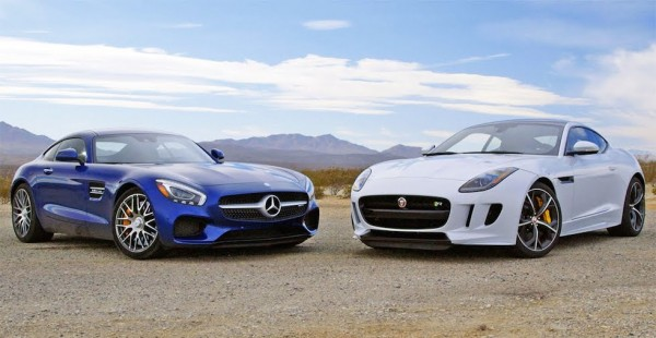AMG GT v F Type 600x310 at GT War: Mercedes AMG GT v Jaguar F Type R